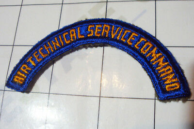 wwii WW2 PATCH embroidered US USA arc arch AIR TECHNICAL SERVICE COMMAND aaf