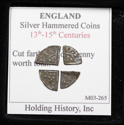 ENGLAND. John-Henry III Hammered Silver Cut Farthing, One Penny Worth