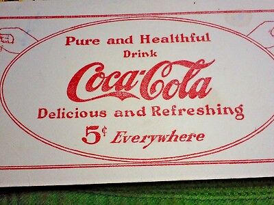 Early Coca-Cola 5 Cent Advertising Nice