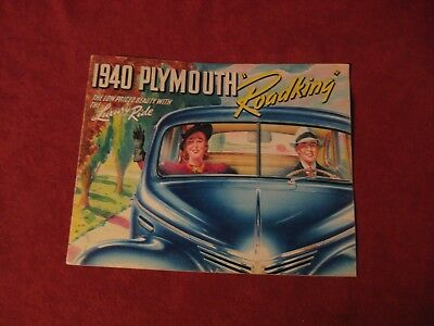 1940 Plymouth Large Showroom Salesman Dealership Brochure Original Old Vintage