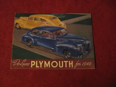 1940 Plymouth Showroom Salesman Dealership Brochure Original Mopar Old Booklet