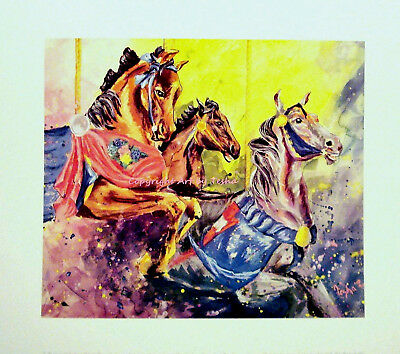 Limited Edition HORSE ART Print To the CAROUSEL S/N by the Artist