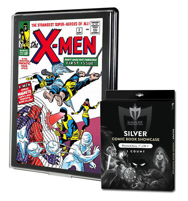 5 Max Pro Silver Comic Book Premium Showcases Wall Mountable Display Frames