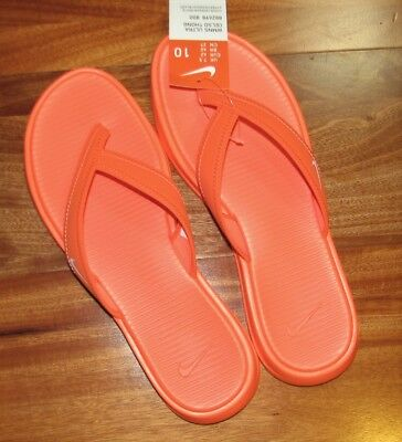 7a76c3922ad4 New Nike Ultra Celso Women s Sandals Flip Flop Thong size 7 8 9 10 Orange