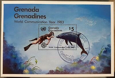 Grenada Grenadines 1983 Communication Year Sc # 533 Mini Sheet Mint CTO Stamp