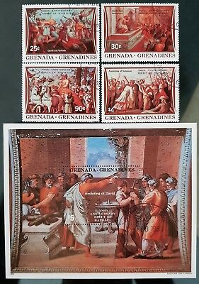 Grenada Grenadines 1983 Art Sc # 534 - Sc # 538 Mini Sheet Mint CTO Stamps