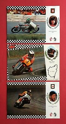 3 x Motorsport um 1975 Grand Prix Bruno Kneubuhler Phil Read Katayama   ( 41034