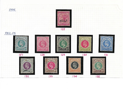 NATAL - 1895/1902 Definitives to 6d - SG 125/35 - mint/used