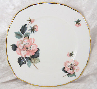 Crown Royal pink flower side plates x 2  afternoon tea wedding