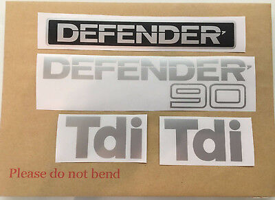 Land Rover Defender 90 TDI set replacement decals stickers full set