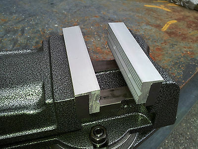 """5""""-125mm One Pair Aluminum Face Magnetic Vise Jaw"""
