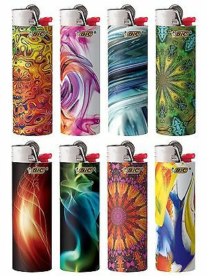 New BIC Special Edition Bohemian Series Lighters, Set of 8 Lighters Great Gift