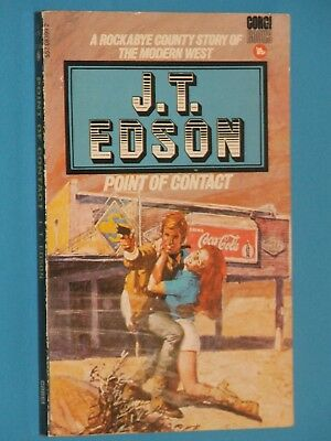 POINT OF CONTACT / J T EDSON / Rockabye County series / Corgi Western 1977 / VG