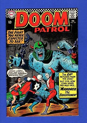 Doom Patrol #109 Vf High Grade Silver Age Dc Comics