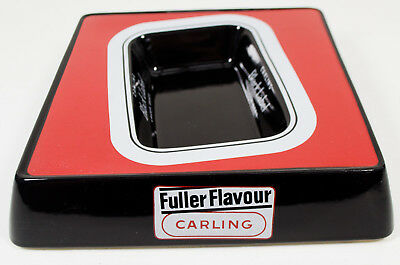 Carling Black Label Lager Beer Bristol Pottery Square Ash Tray - RARE