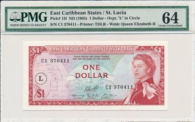 East Caribbean Curency Authority East Caribbean States  $1 ND(1965)  PMG  64