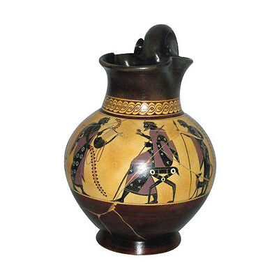 Ancient Greek Black Figure Oinohoe Museum Replica Reproduction