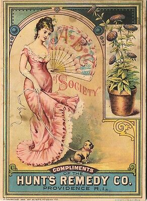 1883 Hunt's Remedy Co. ABC Booklet Premium, Cartoons, 56 Pages