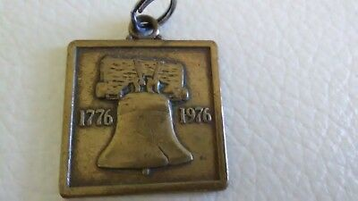 Vintage 1976 AMOCO Oil GAS Station Bicentennial Registered Brass Pendant