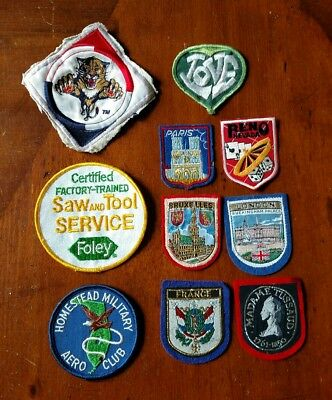 "Vintage 3""-4"" Patch Lot Military Country Advertising"