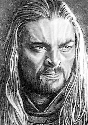 ORIGINAL ACEO sketch card LORD OF THE RINGS Karl Urban EOMER