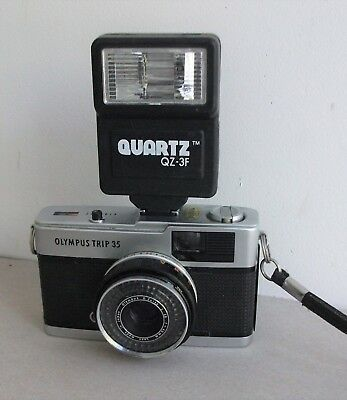 Vintage Olympus Trip 35 Camera with a Flash Unit