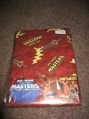Vorhangset Curtain Set Motu He-Man Masters of the Universe Mattel 2004 Mint !