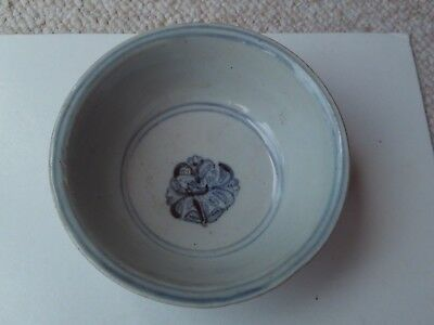Antique 18th c or earlier Chinese blue & white porcelain bowl