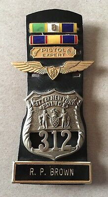 NYPD Officer badge Ribbons Air Wing Name Plate WOW