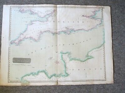 Antique Map. The British Channel. 1814. The English Channel Thomson's Atlas