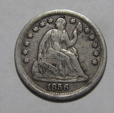 1856 Seated Liberty Half Dime - Very to Extra Fine Condition - 59SU