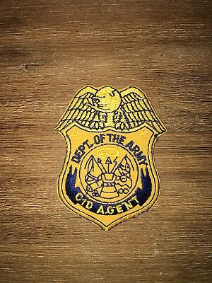 US ARMY CID AGENT Breast Badge patch SEHR SELTEN