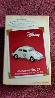 Hallmark Keepsake Ornament Disney Amazing No. 53 Herbie Love Bug 2004 NIB