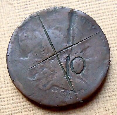 1794 Head of 1794 LIBERTY CAP LARGE CENT DAMAGE (Damage)