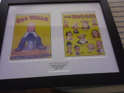 The Broons & Oor Wullie 80Th Anniversary Prints Framed 1936 - 2016