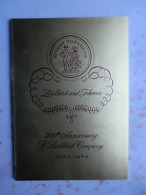 Lorillard and Tobacco - 1760-1960 - Softbound Illustrated History