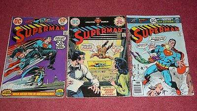 SUPERMAN lot - 10 issues between #s 268 - 326 (DC, 1973-1978) NR!