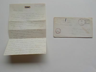 WWII Letter 1943 Christmas Day U.S.S. Hailey Madison Wisconsin Navy WW2 Cover WI