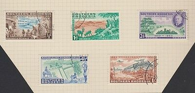SOUTHERN RHODESIA 74-8 used set 1953