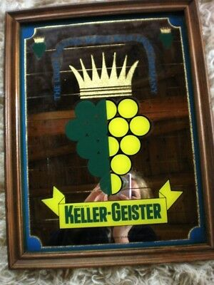 Keller-Geister White Wine From Germany 1970's Advertising Mirror Plaque
