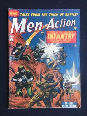 Men In Action #2 1952 - war comics, tales of The American infantry - golden age!