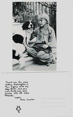 President Carter's Daughter Amy & Her Dog Grits