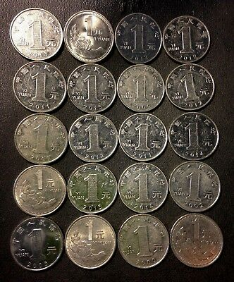 Old China Coin Lot - YUAN - 20 Excellent Coins - Mixed Types - Lot #715