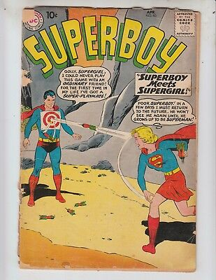 Superboy 80 Fair (1.0) 4/60 First Meeting of Superboy and Supergirl!