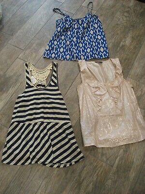 Women's Blouse Lot of 3 Tops Gap XS Express S Rewind S NWT Babydoll Embroidery