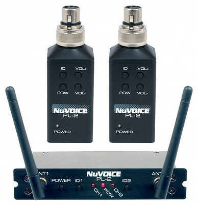 NEW Vocopro Nuvoice PL2  Dual Plug On Wireless Transmitter System Free Shipping!