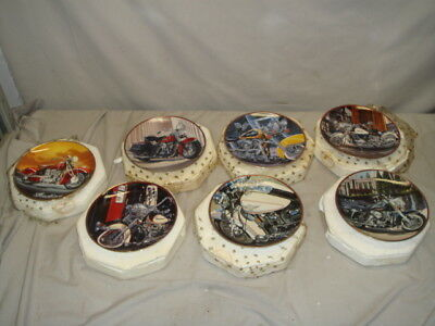 Lot 7 Franklin Mint Heirloom Harley Davidson & Indian Motorcycle Collector Plate