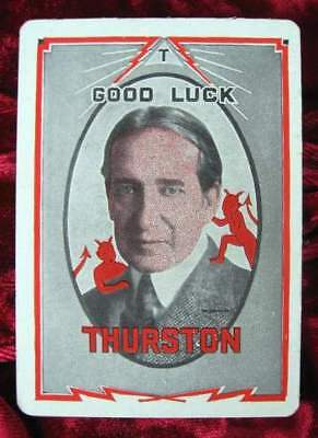 HOWARD THURSTON Magic Throw Out Card 1930's