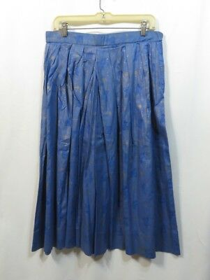 Vintage Skirt 50s Cotton Novelty Rockabilly Aline Medieval Print Musician Blues