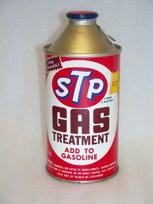 Vintage STP Gas Treatment Embossed Tin Can Never Used Sold Osco Dep: Store NR